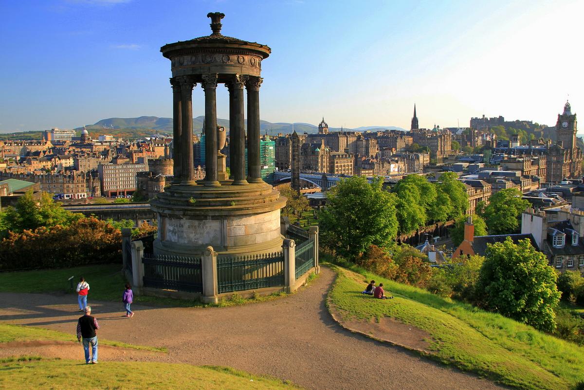 Edinburgh z Calton Hillu